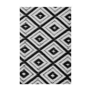 Černobílý oboustranný venkovní koberec Green Decore Arabian Nights, 90 x 150 cm