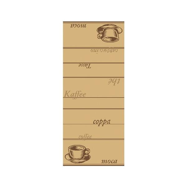 Koberec Vůně kávy 80x200 cm, světlý