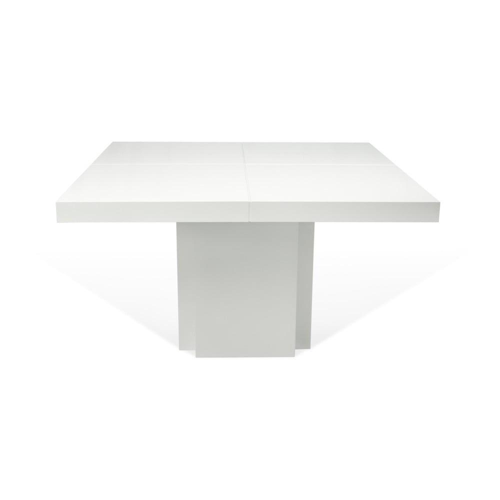 Lesklý bílý jídelní stůl TemaHome Dusk, 130 cm
