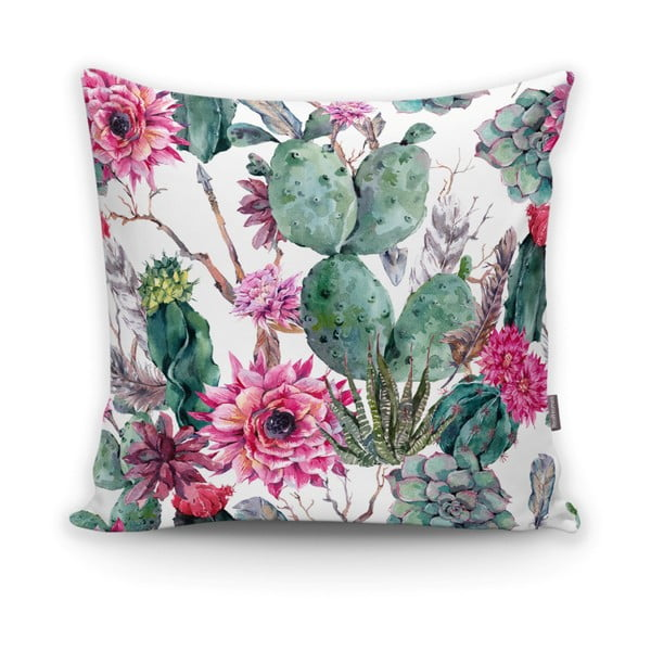 Față de pernă Minimalist Cushion Covers Cactus And Roses, 45 x 45 cm