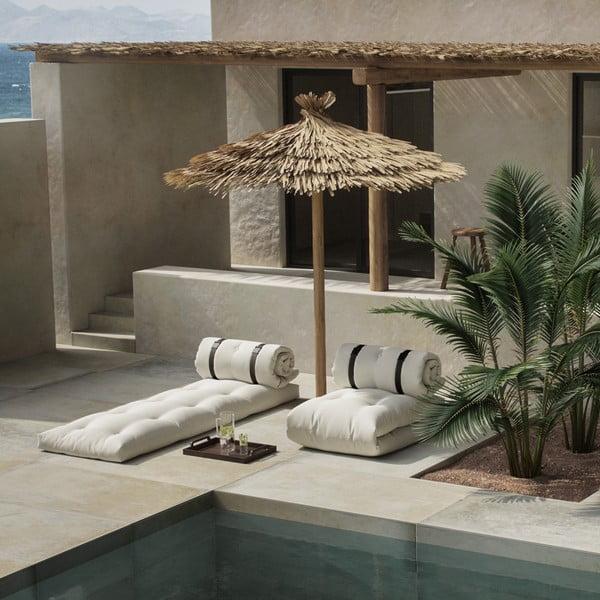 Canapea extensibilă potrivită pentru exterior Karup Design Design OUT™ Buckle Up White, alb