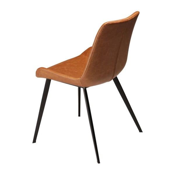 Hnědá jídelní židle DAN–FORM Hype Faux