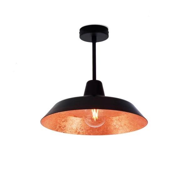 Czarna lampa wisząca z wnętrzem w kolorze miedzi Bulb Attack Cinco Basic