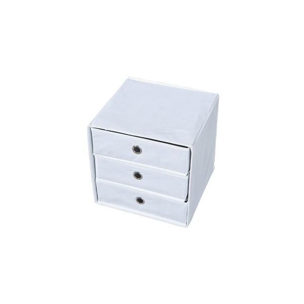 Bílý úložný box se zásuvkami 13Casa Lolly