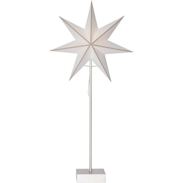 Stea luminoasă cu suport Best Season Astro, înălțime 74 cm, alb