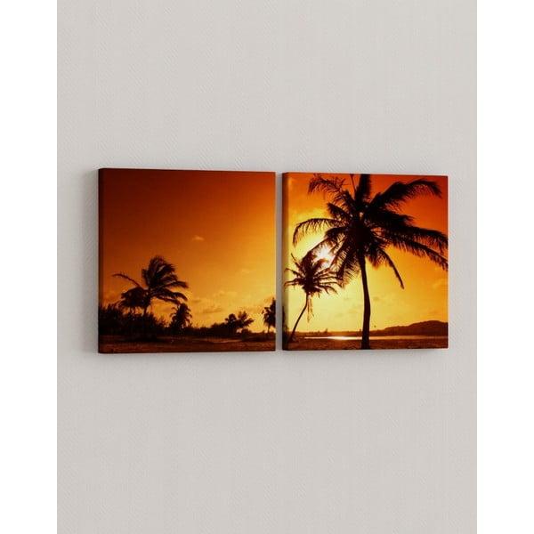 Sada 2 obrazů Palmový ráj