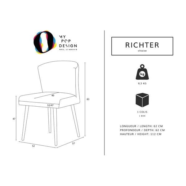 Scaun My Pop Design Richter, maro închis-natural