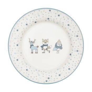 Farfurie din gresie ceramică Green Gate Kids, alb - albastru imagine