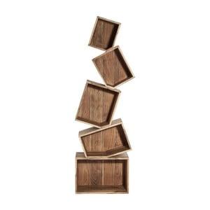 Bibliotecă din lemn de salcâm Kare Design Balance