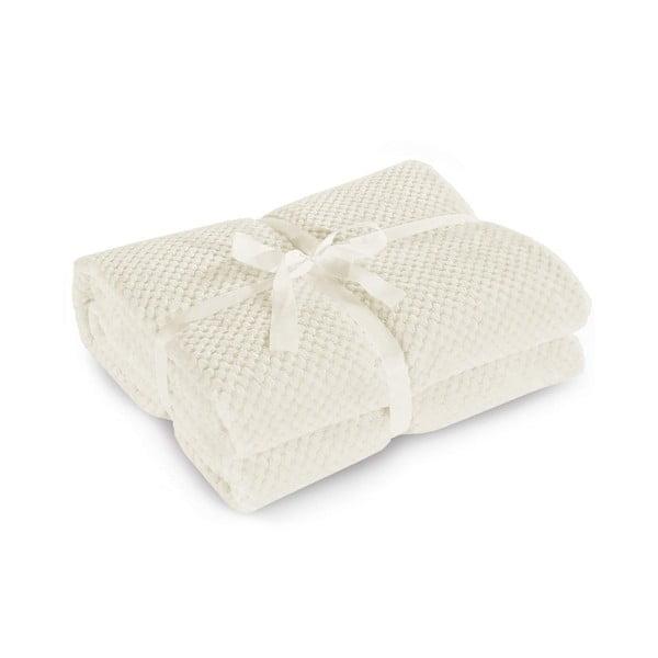 Krémovo-biela deka z mikrovlákna DecoKing Henry, 150x200cm