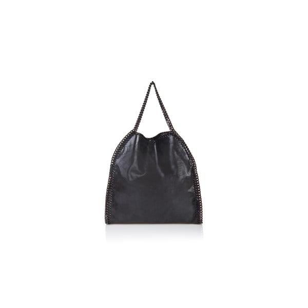 Černá kožená kabelka Massimo Castelli Caterina