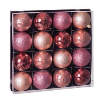 Set 16 decorațiuni de Crăciun Unimasa Copper, roz imagine
