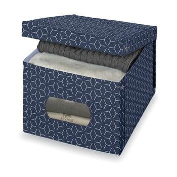 Cutie pentru depozitare Domopak Metrik Extra Large, 50x42cm, albastru închis de la Domopak
