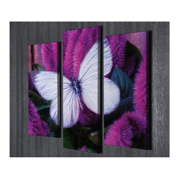 3dílný nástěnný obraz na plátně Butterfly