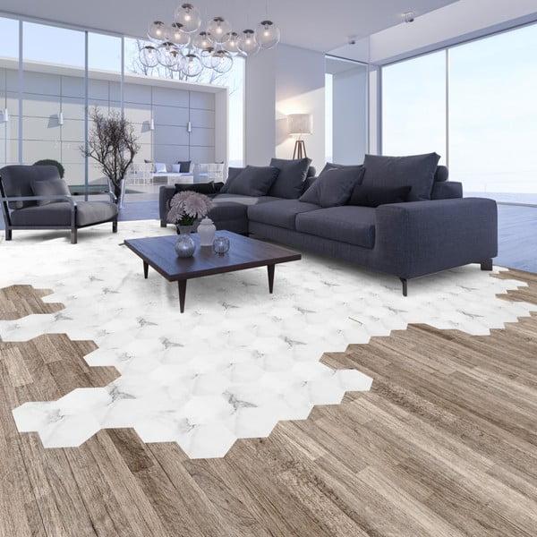 Set 10 autocolante impermeabile pentru podea Ambiance Hexagon