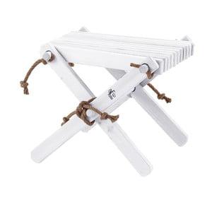 Bílá stolička ze dřeva břízy EcoFurn Lili