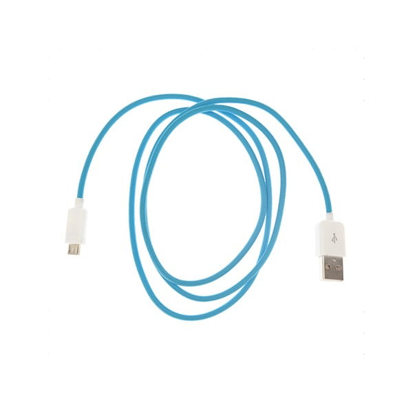 Micro-USB kabel, modrý