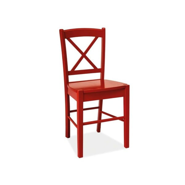 Červená židle Signal Rachel