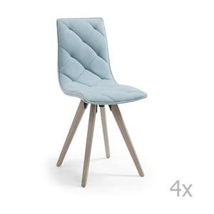 Set 4 scaune cu picioare de lemn La Forma Tuk