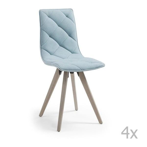 Sada 4 světle modrých jídelních židlí La Forma Tuk