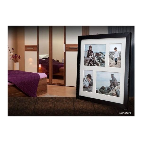 Ramă foto pentru 4 fotografii Styler Narvik, 39x39cm, negru