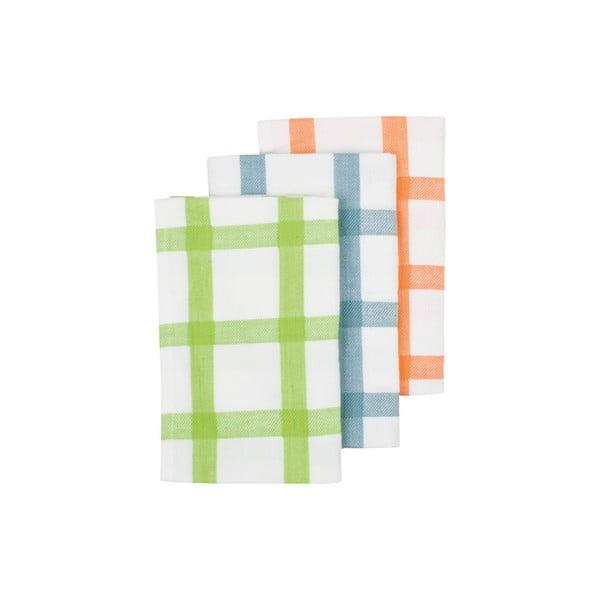 Utěrky Grid Lime, 3 ks
