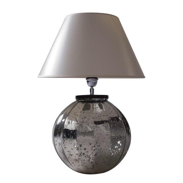 Stolní lampa Stříbrná patina