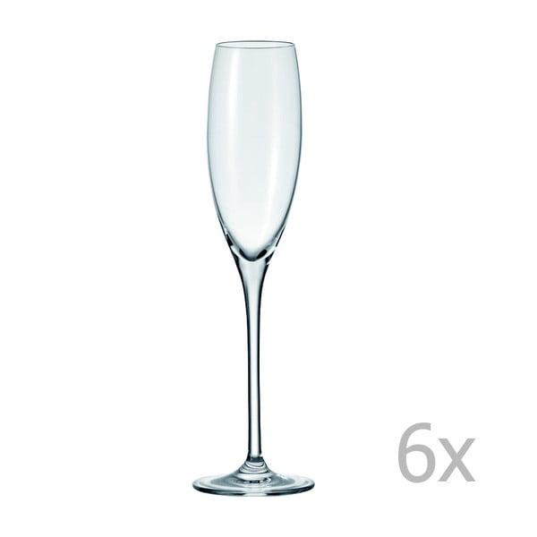 Sada 6 sklenic na sekt LEONARDO Cheers, 220 ml