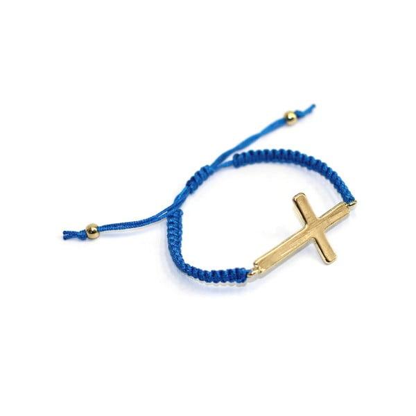 Modrý náramek s křížem Brandy Melville