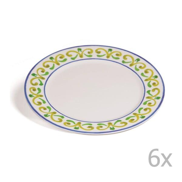 Sada 6 talířů Toscana Anghiari, 27 cm