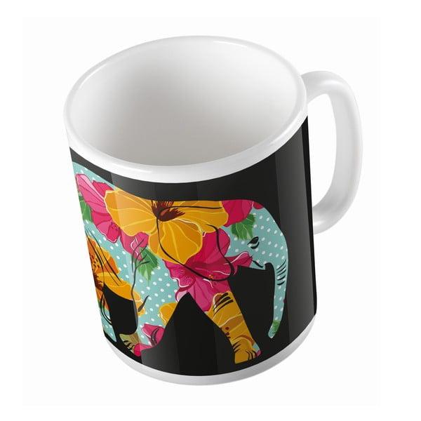 Keramický hrnek Flower Elephant, 330 ml