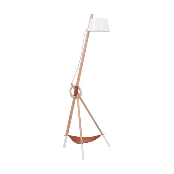 Bílá volně stojící lampa s odkládacím prostorem Woodendot Ka M