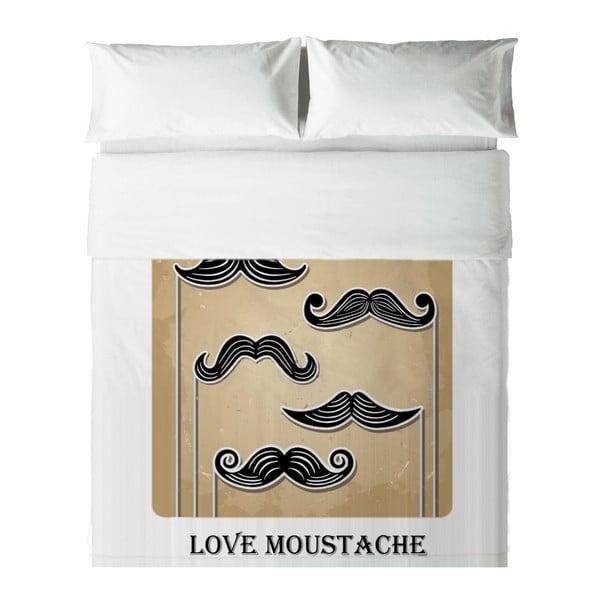 Povlečení Hipster Love Moustache, 140x200 cm