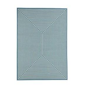 Světle modrý vysoce odolný koberec Webtappeti Braid,160x230cm