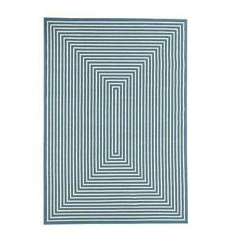 Covor pentru exterior Floorita Braid, 133 x 190 cm, albastru imagine