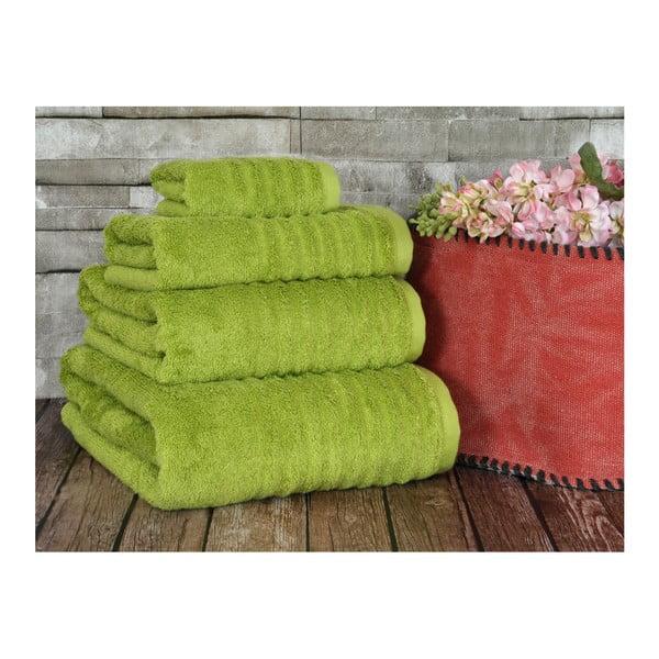 Limetkový ručník Irya Home Wellas Bamboo, 50x90 cm
