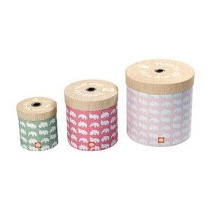 Set 3 cutii Done by Deer Round, roz