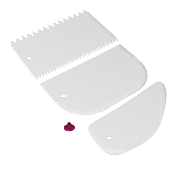 Set 3 spatule din plastic Metaltex, alb