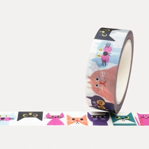 Washi páska U Studio Design Cat Gang, délka 4 m