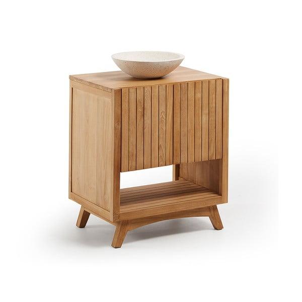 Dulap de baie din lemn de tec cu chiuvetă La Forma, lățime 70 cm