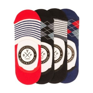 Sada 4 párů neviditelných unisex ponožek Black&Parker London Dalton,velikost37/43