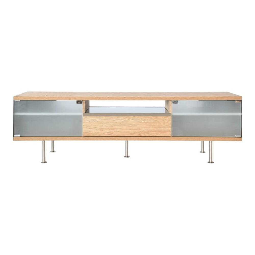 TV stolek s detaily z dubové dýhy RGE Frank, šířka 167 cm