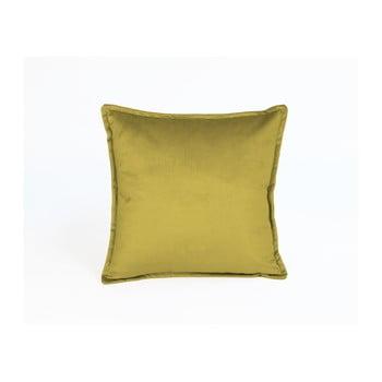 Față de pernă decorativă Velvet Atelier Atelier, 45 x 45 cm, galben de la Velvet Atelier