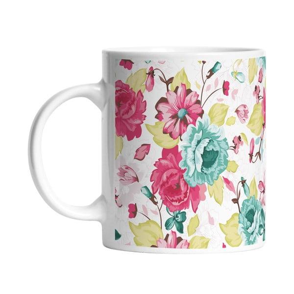 Keramický hrnek Floral Elegance, 330 ml