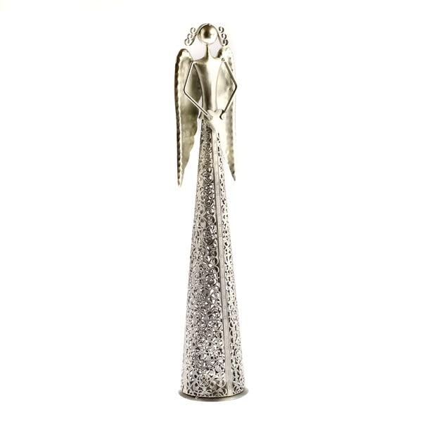 Kovová dekorace ve tvaru anděla Dakls Angel, výška 39cm