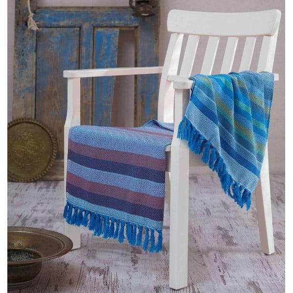 Hammam osuška Renkli Blue, 100x180 cm