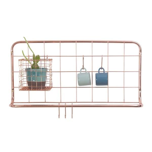 Open Grid rézszínű fém fali rendszerező - PT LIVING