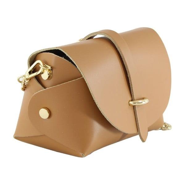 Kožená kabelka přes rameno Slaygie, hnědá