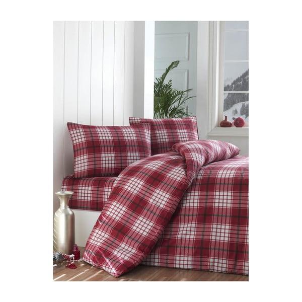 Lenjerie de pat cu cearșaf Tonya, 160 x 220 cm