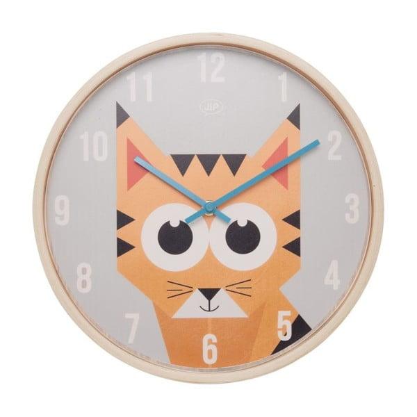 Nástěnné hodiny Present Time Geo Tiger, 30 cm